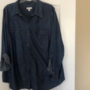 CHARTER CLUB BLUE JEAN SHIRT